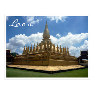 great stupa laos postcard