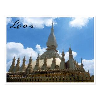 great stupa tops gold postcard