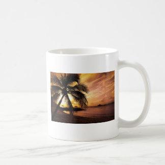 Great Sunset at the Beach Classic White Coffee Mug