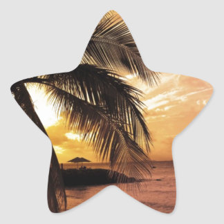 Great Sunset at the Beach Star Sticker