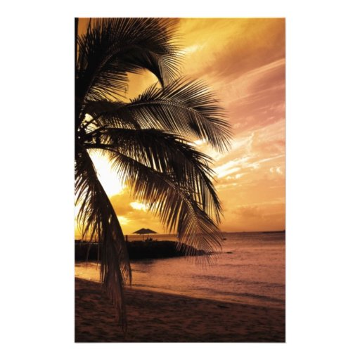 Great Sunset at the Beach Stationery