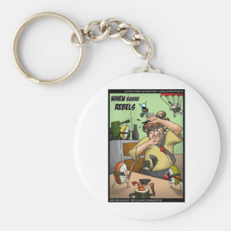 Great Sushi Rebellion Funny Gifts Tees Cards Etc Keychain