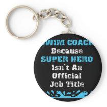 Great Swim Coach Gift Super Hero Swim Coach Shirt Keychain