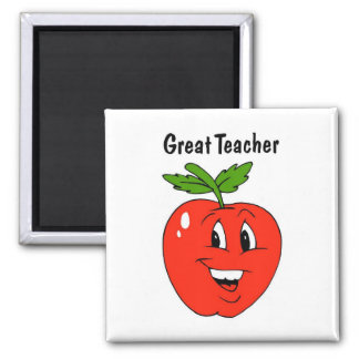 Great Teacher 2 Inch Square Magnet