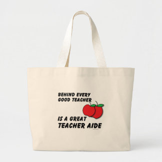 Great Teacher Aide Large Tote Bag