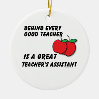 Great Teacher Assistant Christmas Ornaments