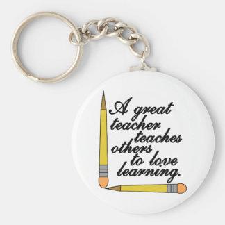 Great Teacher Basic Round Button Keychain