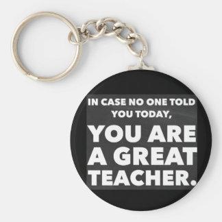Great teacher keychain