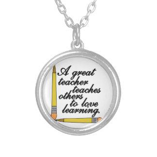 Great Teacher Round Pendant Necklace