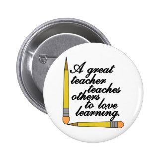Great Teacher Pinback Button