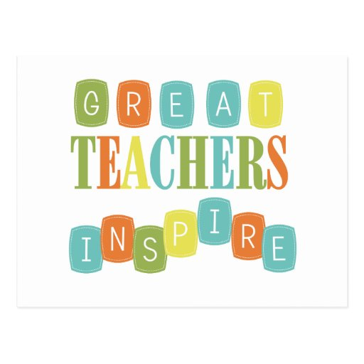 great teachers Nobody can inspire us like great teachers can they seem to come along at just the right moment, at a time when we need them the most great teachers show us things about ourselves we can't see they see potential in us that others, including ourselves, can't or won't above all, they give us.