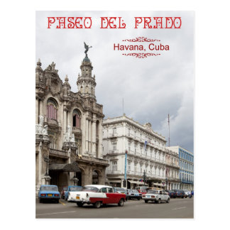 Great Theater of Havana, Paseo del Prado, Cuba Postcard