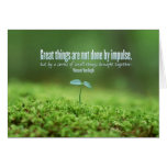 Great Things Inspirational Greeting Note Card