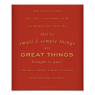 Great Things (LDS) Photographic Print