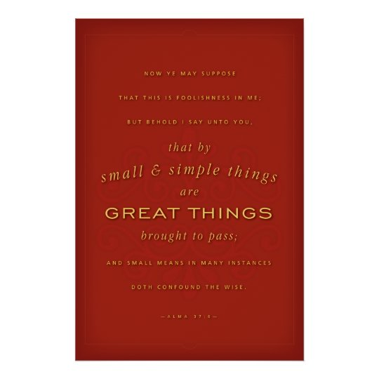 Great Things (LDS) Poster