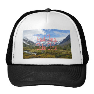 Great Things Take Time Mountains Landscape Trucker Hat