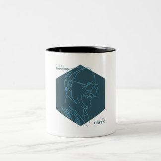 Great Thinkers: Friedrich Hayek Two-Tone Coffee Mug
