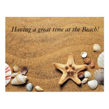 Beach Themed Great time at the Beach! Postcard