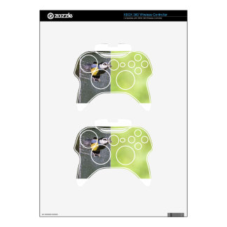 Great tit parent in hole of nest box xbox 360 controller skin