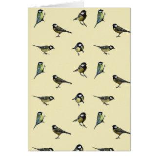 Great tit pattern card