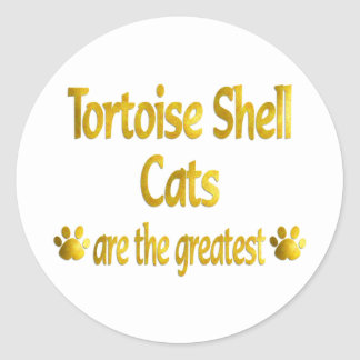 Great Tortoise Shell Classic Round Sticker