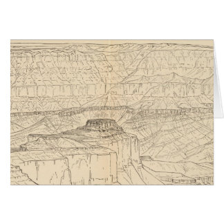 Great unconformity, head of Grand Canyon Card