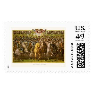 Great Union & Confederate Generals 1865 Postage