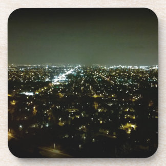 Great View Overlooking the City Lights at Night Drink Coaster