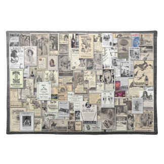 Great Vintage Ads #1, American MoJo Placemat Cloth Place Mat