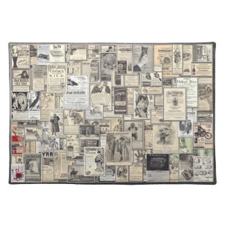 Great Vintage Ads #2, American MoJo Placemat Cloth Place Mat
