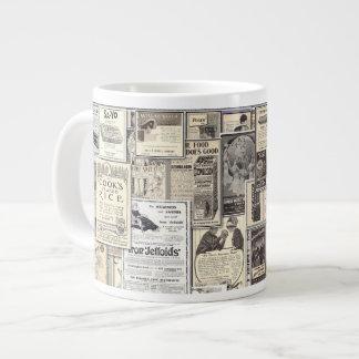 Great Vintage Ads #2, Jumbo Mug 20 Oz Large Ceramic Coffee Mug