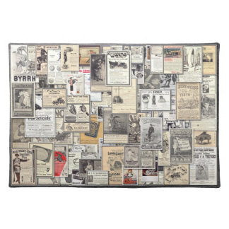 Great Vintage Ads #3, American MoJo Placemat Cloth Place Mat