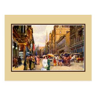 Great vintage belle epoque scene Vienna Austria Postcard