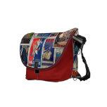 Great Vintage Travel Ads 1, Rickshaw Messenger Bag