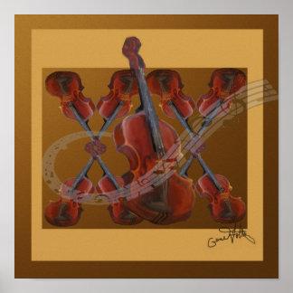 Great Violin Music Poster