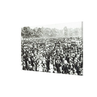 Great Votes for Women demonstration in Hyde Canvas Print