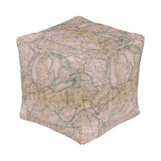 Great Wabash System Cube Pouf