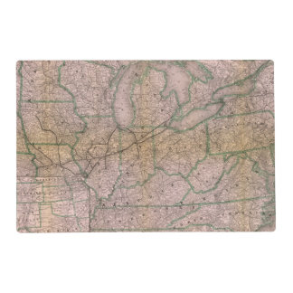 Great Wabash System Laminated Place Mat
