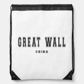 Great Wall China Drawstring Backpack