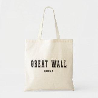 Great Wall China Tote Bag