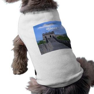 Great Wall in China Dog T Shirt
