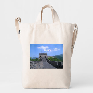 Great Wall in China Duck Bag