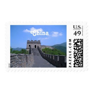 Great Wall in China Postage