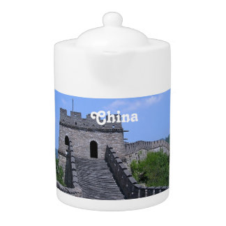 Great Wall in China Teapot