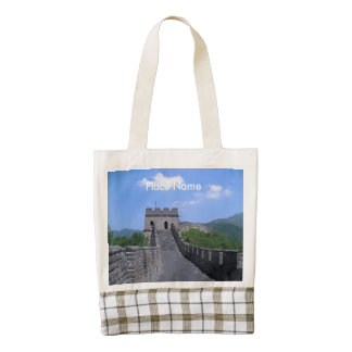 Great Wall in China Zazzle HEART Tote Bag