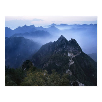 Great Wall in early morning mist, China Postcard