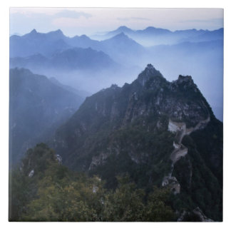 Great Wall in early morning mist, China Tile
