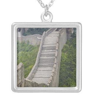 Great Wall, Jinshanling, China Square Pendant Necklace