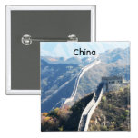 Great Wall of China 2 Inch Square Button