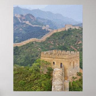 Great Wall of China at Jinshanling, China. 2 Print
